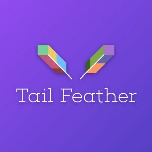Tail Feather – Geometric vector logo free logo preview