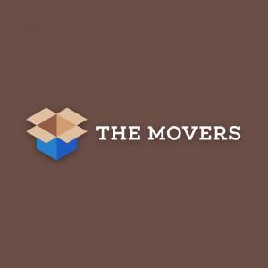 The Movers – Cardboard box logo design vector free logo preview