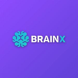 Brain X – Geometric brain digital logo vector free logo preview