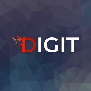 Digit – Letter D digital vector logo free logo preview