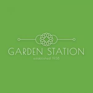 Garden Station – Decorative vector logo design free logo preview