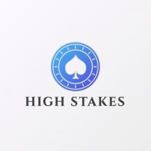 High Stakes – Casino poker logo vector design free logo preview