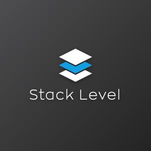 Stack Level – Minimal geometric logo vector free logo preview