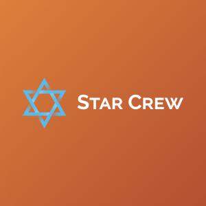 Star Crew – Religious vector logo design free logo preview