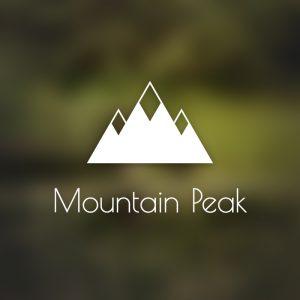 Mountain Peak – Minimal geometric logo travel free logo preview