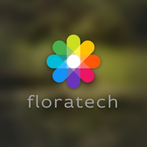 Floratech – Colorful abstract flower logo vector free logo preview