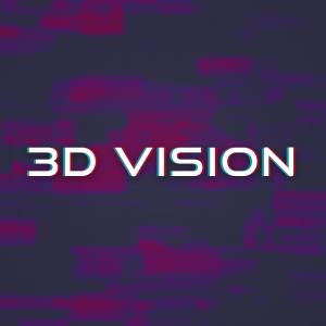 3d Vision – 3D Anaglyph text logo design free logo preview