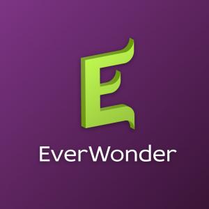 Everwonder – Letter E 3D vector logo free logo preview