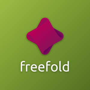 Freefold – Abstract geometric fold logo vector free logo preview