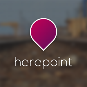 Herepoint – Minimal location pin logo vector free logo preview