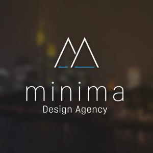 Minima – Minimal geometric mountain logo free logo preview