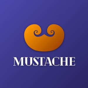Mustache – Abstract facial hair logo vector free logo preview