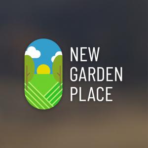 New Garden Palace – Geometric landscape logo free logo preview