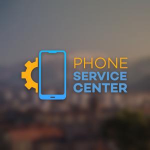 Phone Service Center – Gear cell logo design free logo preview