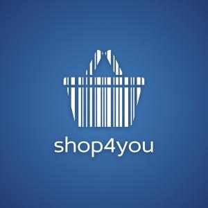 Shop4you – Free shopping basket barcode logo free logo preview