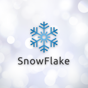 Snowflake – Free geometric snow logo vector free logo preview