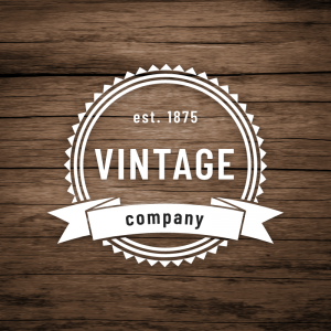 Vintage Company – Classic label logo vector free logo preview