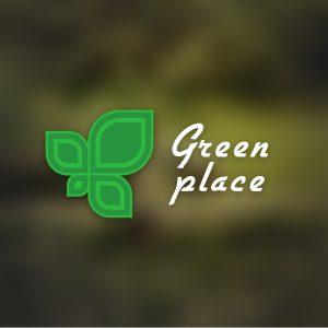 Green Place – Free minimal plant leaf logo free logo preview
