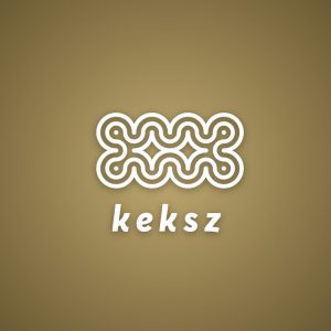Keksz – Abstract biscuit cracker outline logo free logo preview