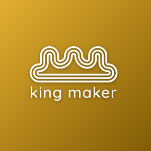 Kingmaker – Free abstract outline crown logo free logo preview