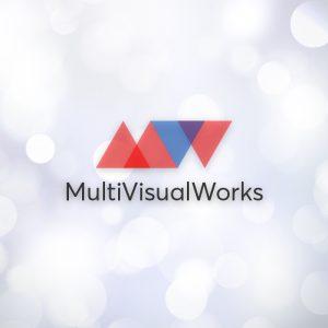 MultiVisualWorks – Free minimal MW vector logo free logo preview