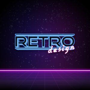 Retro Design – Neon laser logo vector download free logo preview