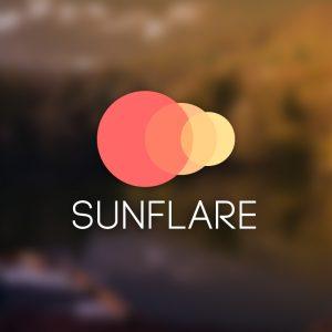 Sunflare – Free geometric sun circle logo vector free logo preview