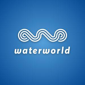 Waterworld – Geometric water wave logo vector free logo preview