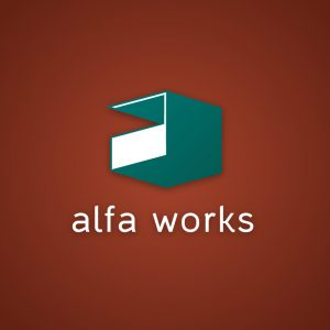 Alfa Works – Free minimal letter A logo vector free logo preview