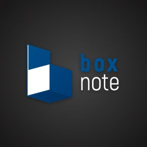 Box Note – Isometric letter B logo download free logo preview