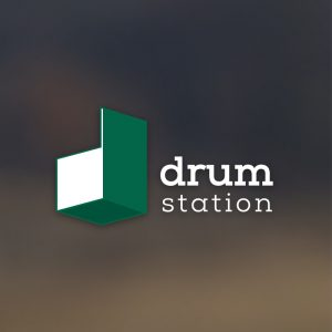 Drum Station – Isometric letter D logo vector free logo preview