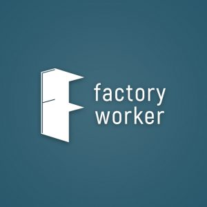Factory worker – Isometric letter F logo vector free logo preview