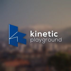 Kinetic Playground – Isometric letter K logo free logo preview