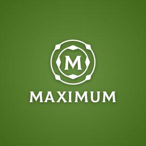 Maximum – Free geometric letter M logo design free logo preview