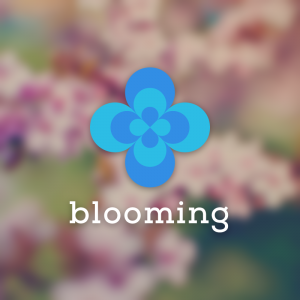 Blooming – Free geometric abstract flower logo free logo preview