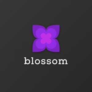 Blossom – Geometric flower plant logo vector free logo preview