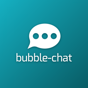 Bubble-chat – Speech communication app logo free logo preview