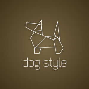 Dog style – Geometric origami outline logo free logo preview