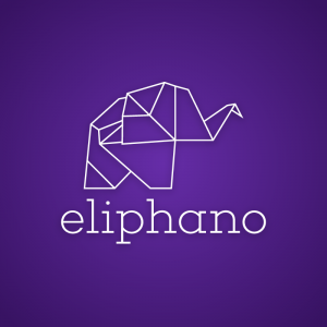 Eliphano – Free origami elephant outline logo free logo preview