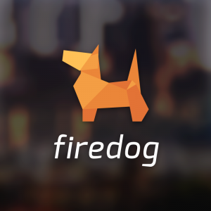 Firedog – Free origami canine logo download free logo preview
