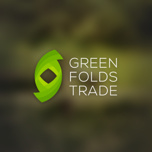Green Folds Trade – Abstract business logo free logo preview