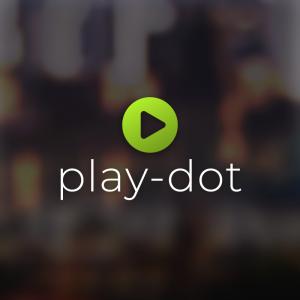 Play-dot – Free play button media logo vector free logo preview