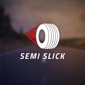 Semi slick – Speed tire rubber racing logo free logo preview