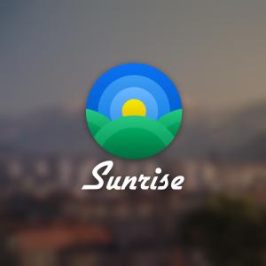 Sunrise – Geometric field sky sun logo vector free logo preview