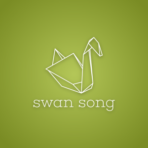 Swan song – Free origami outline animal logo free logo preview