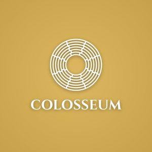 Colosseum – Free geometric architectural logo free logo preview