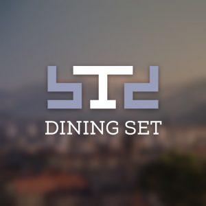 Dining set – Minimal geometric table chair logo free logo preview