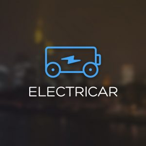 Electricar – Electric battery charging logo free logo preview