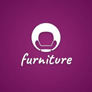 Furniture – Sofa chair negative space logo free logo preview