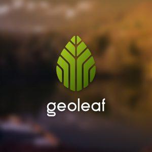 Geoleaf – Abstract minimal plant leaf logo free logo preview